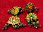 Antiques earrings with meenakari