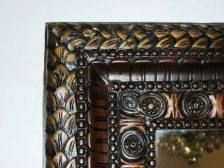 carved wooden border, solid wood