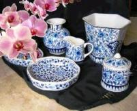 Pottery in blue and white from Multan