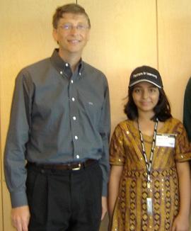 Arfa Karim with Bill Gates