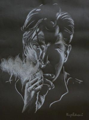 Pencil Art-White on Black by Binte Yousuf