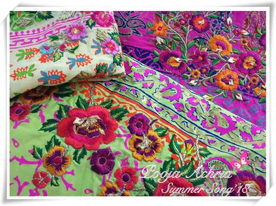 Embroidered Fabric by Pooja's