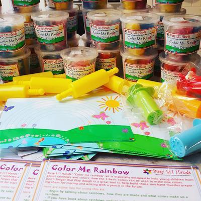 Non-Toxic Homemade Playdough by Busy Li'l Hands