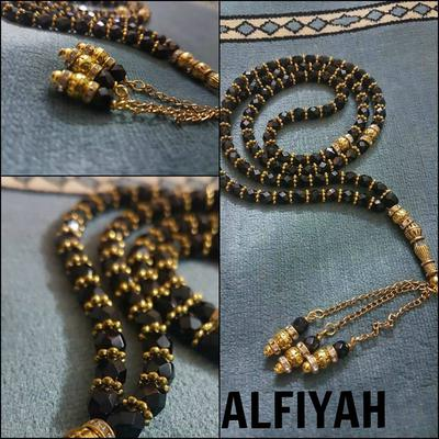 Black and Gold Tasbih (Rosary Beads) by ALFIYAH