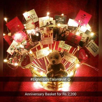 Light-up Birthday/Anniversary Basket by Light-up by Zara Hayat