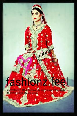 Traditional Pakistani Bridal wear by Fashionz Feel