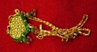 Antique pendant with polki gems