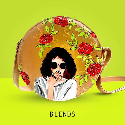 Hand Painted DAFLI Bag by BLENDS