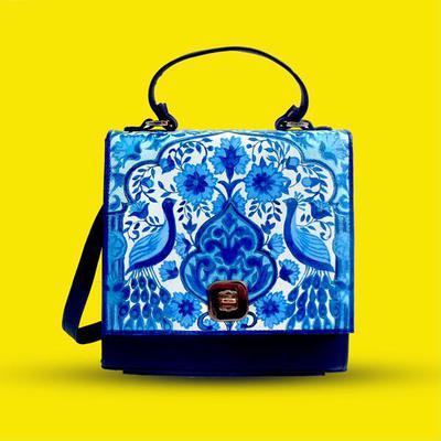 Hand Painted Multan Art Crossbody Bag by BLENDS