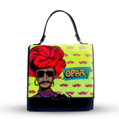 Hand Painted OPAA Turban Crossbody Bag by BLENDS