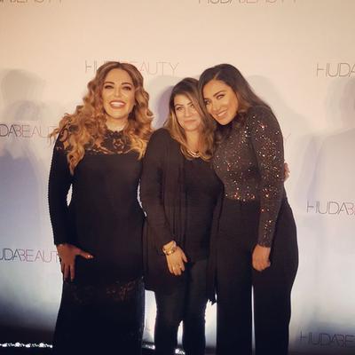 At Huda Beauty Masterclass