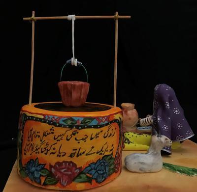 Truck and Pottery Art By Sana Mohsin