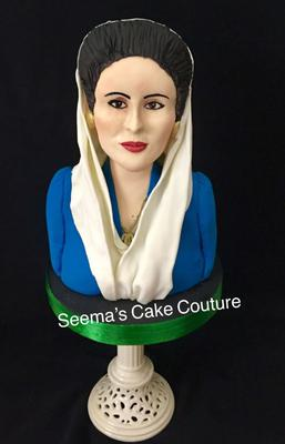 Benazir Bhutto, Former Prime Minster of Pakistan by Seema Tayagi from India